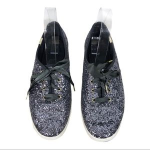 Keds Kate Spade Sparkly Glitter Lace Up Shoes